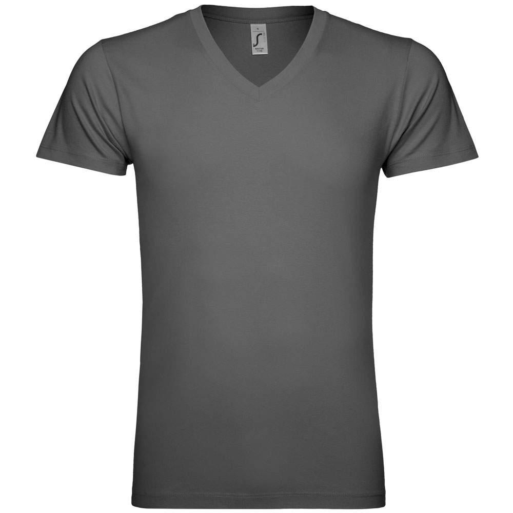 V-Ausschnitt T-Shirt bedrucken