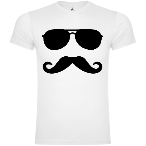 Moustache And Sunglasses 80's T-Shirt