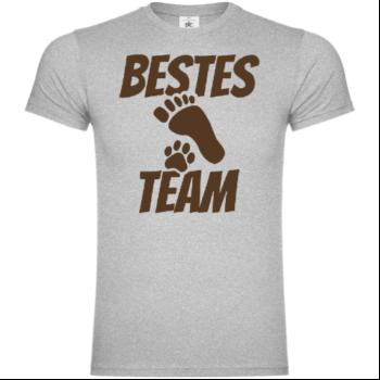 Bestes Team Mensch Hund T-Shirt