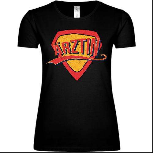Superheldin Ärztin Frauen T-Shirt