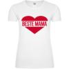 Beste Mama Herz Frauen T-Shirt