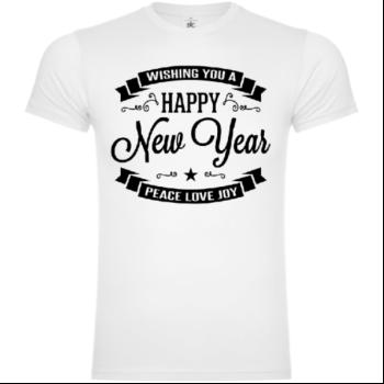Wishing You A Happy New Year Peace Love Joy T-Shirt