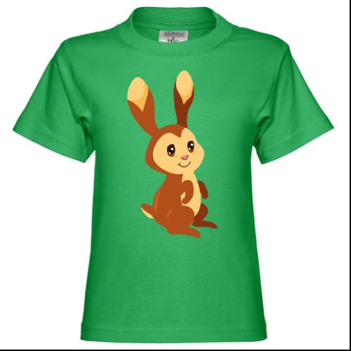 Brown Baby Bunny Kinder T-Shirt