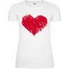 Red Love Heart Frauen T-Shirt