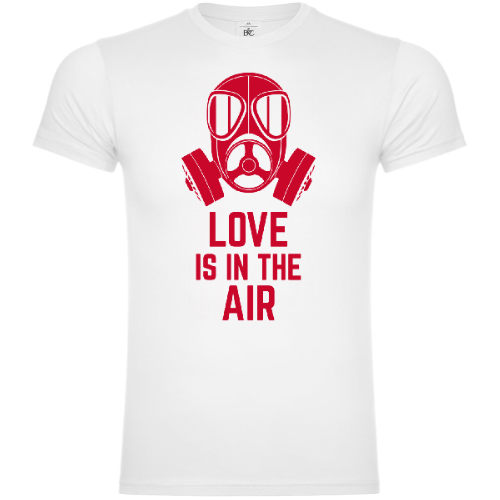 Love Is In The Air Gas Mask T-Shirt