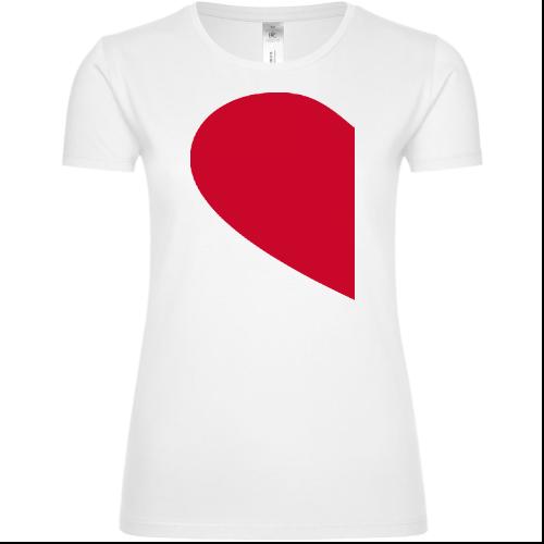 Couple Heart Left Frauen T-Shirt