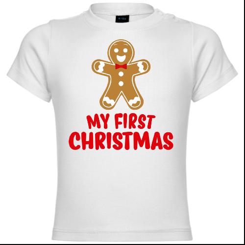 My First Christmas Gingerbread Men Baby T-Shirt