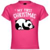 My First Christmas Panda Baby T-Shirt