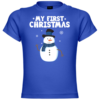 My First Christmas Snowman Baby T-Shirt
