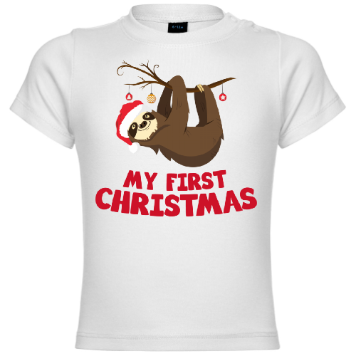 My First Christmas Sloth Baby T-Shirt