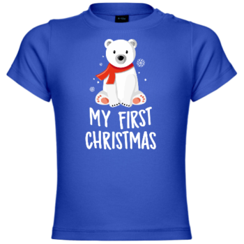 My First Christmas Polar Bear Baby T-Shirt