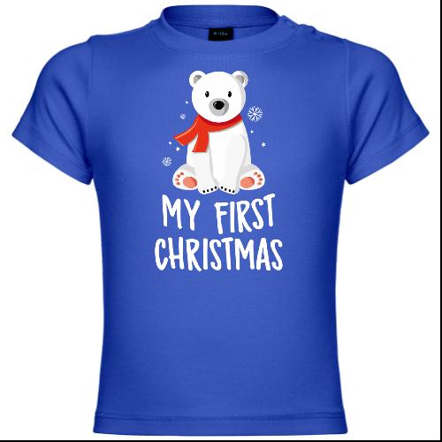 My First Christmas Polar Bear Baby T-Shirt