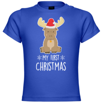 My First Christmas Baby Deer Baby T-Shirt
