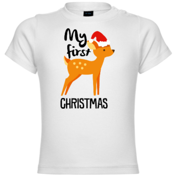 My First Christmas Deer Baby T-Shirt
