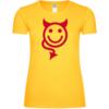 Devil Smiley Icon Frauen T-Shirt