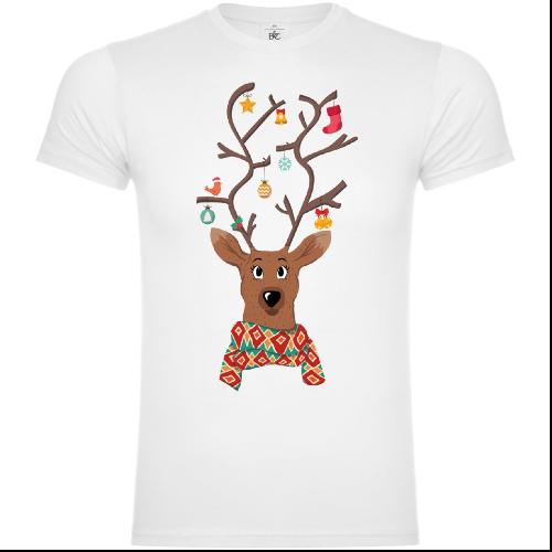 Christmas Decorated Reindeer T-Shirt