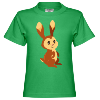 Brown Baby Bunny Kinder T-Shirt
