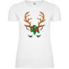 Christmas Female Reindeer Frauen T-Shirt