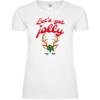 Let's Get Jolly Reindeer Frauen T-Shirt