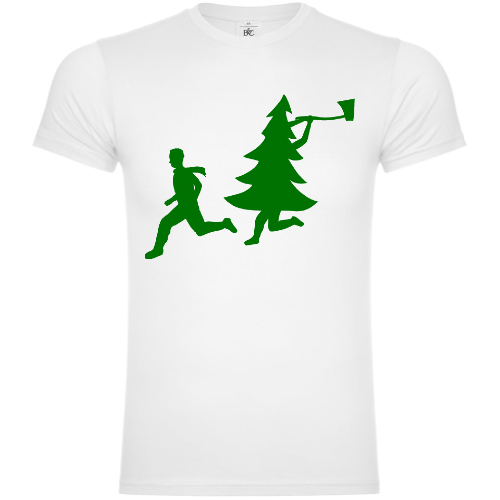 Christmas Tree Attacks Man With Ax T-Shirt