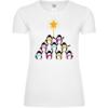Penguin Christmas Tree Frauen T-Shirt