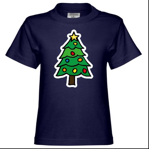 Christmas Tree Illustration Kinder T-Shirt