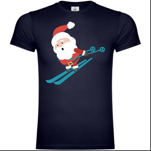 Santa Claus Is Skiing T-Shirt