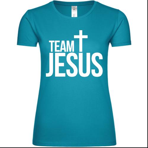 Team Jesus Cross Frauen T-Shirt