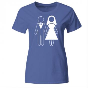 Hochzeit Ehepaar Frauen T-Shirt