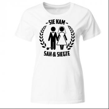 Sie kam sah & siegte Frauen T-Shirt