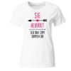 Sie heiratet Ich bin zum Saufen da Frauen T-Shirt