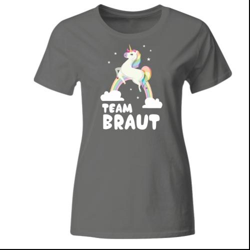 Team Braut Einhorn Frauen T-Shirt