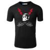 Harley Design Red Skull Motorcycle T-Shirt