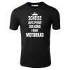 Der König fährt Motorrad T-Shirt