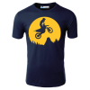 Man On A Motorcycle In The Moonlight T-Shirt