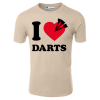 I Love Darts With Three Darts T-Shirt
