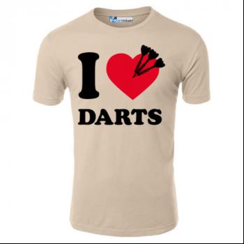 I Love Darts With Three Darts T-Shirt