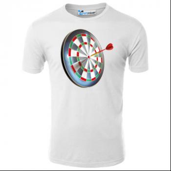 Target And Dart Illustration T-Shirt