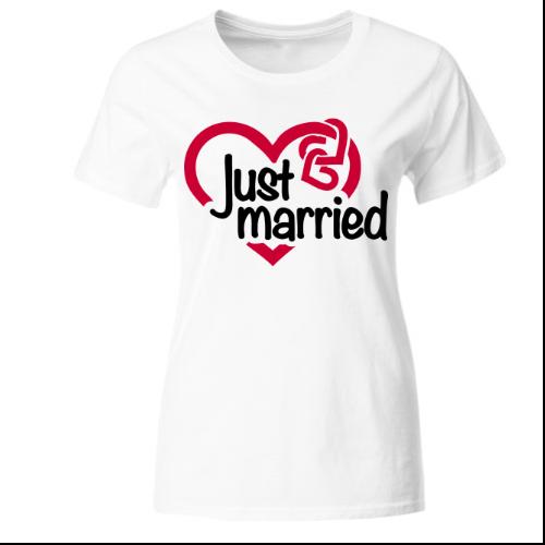 Just Married Frauen T-Shirt
