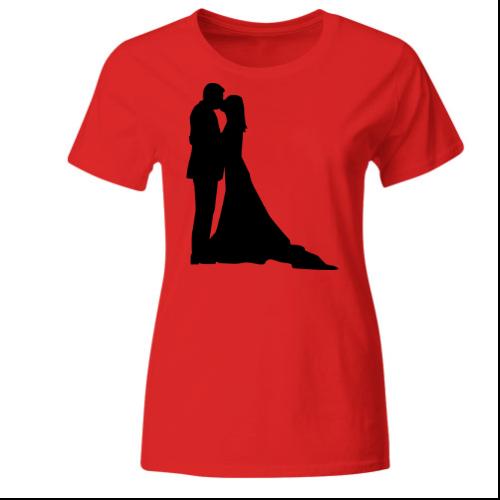 Braut wedding couple Frauen T-Shirt