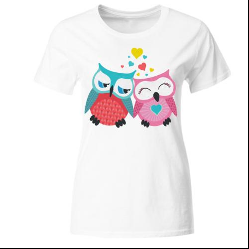 Verliebte Eulen Frauen T-Shirt