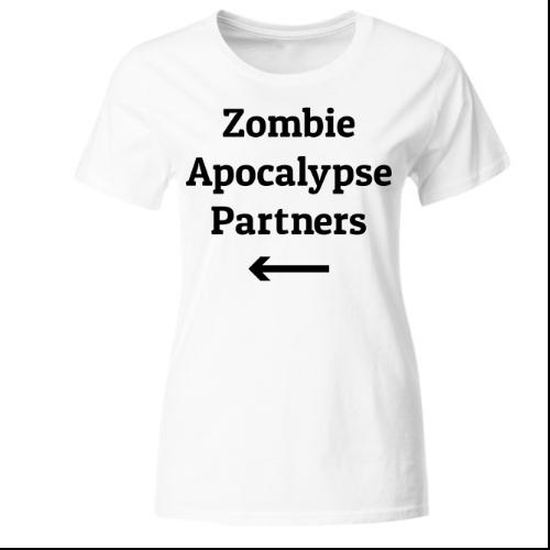 Zombie Apocalypse Partner 2 Frauen T-Shirt