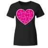 Puzzle Herz Frauen T-Shirt