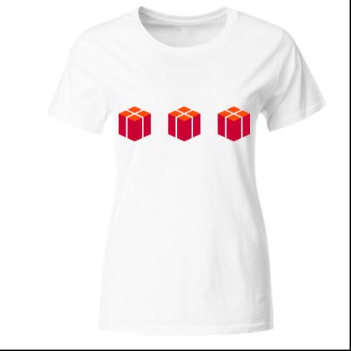 Päckchen Geschenke Frauen T-Shirt