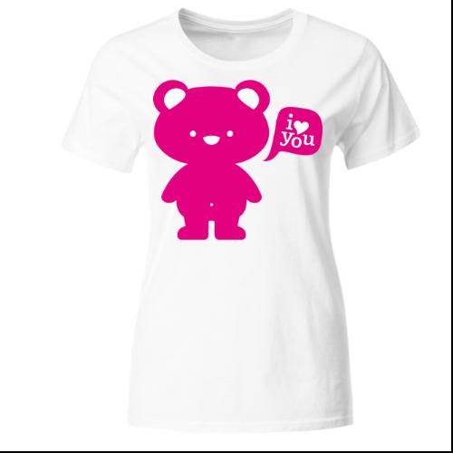 I love you - Teddy Frauen T-Shirt