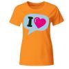 I Love Bubble Ballon - Sprechblase Frauen T-Shirt