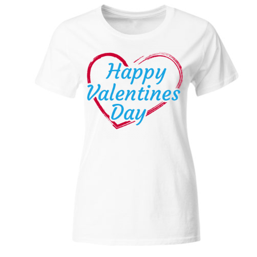 Happy Valentines Day - Herz Frauen T-Shirt