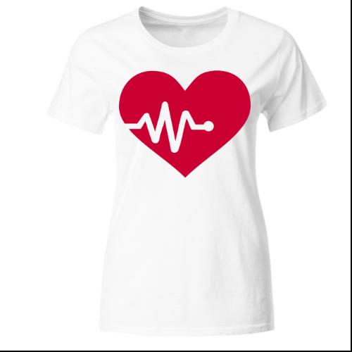 Herz Frequenz Liebe Frauen T-Shirt