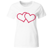 Herz Herzen Liebe Frauen T-Shirt