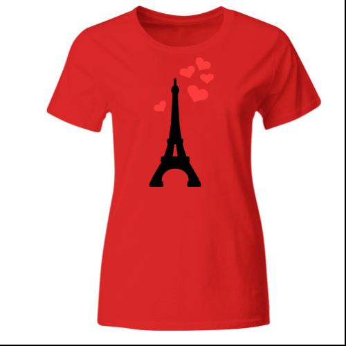 Eiffelturm Liebe Paris Frankreich Frauen T-Shirt